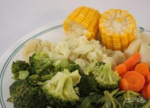 Овощи в пароварке - фото шаг 4