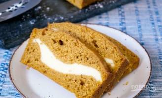 Тыквенный кекс с сырной начинкой - фото шаг 5