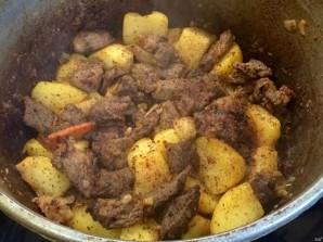 Казан кебаб с картошкой - фото шаг 10