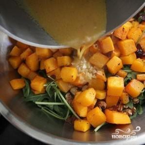 Салат из запеченного сквоша с руколлой - фото шаг 7