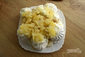 Торт из зефира с кремом - фото шаг 8