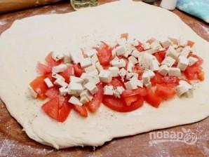 Пирог с адыгейским сыром из слоеного теста - фото шаг 2