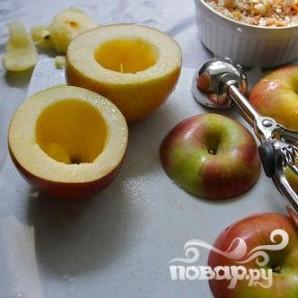 Запеченные яблоки с мясной начинкой - фото шаг 4