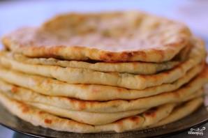 Лепешки с сыром и зеленью - фото шаг 10