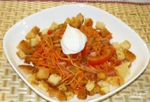 Салат с корейской морковью и сухариками - фото шаг 5