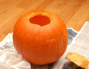 Тыква на Хэллоуин - фото шаг 4