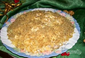 Салат слоеный с курицей - фото шаг 4