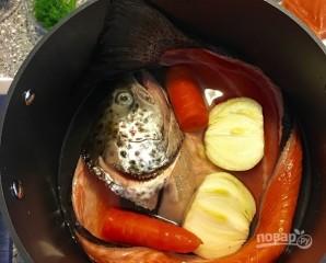 Сливочный суп с лососем - фото шаг 2