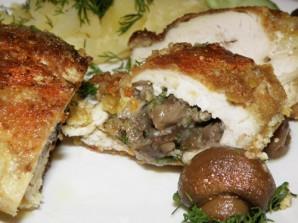 Маслята с курицей - фото шаг 7