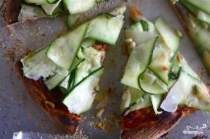 Пицца с цуккини и Моцареллой - фото шаг 4