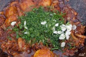 Картофель, тушенный со свининой и овощами - фото шаг 3