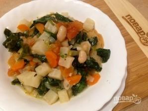 Суп с фасолью и шпинатом - фото шаг 12