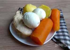 "Праздничный салат ""Новогодний шар"" - фото шаг 2"