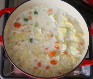 Молочный суп с овощами - фото шаг 4