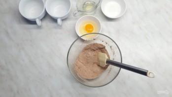 Шоколадный кекс за 3 минуты в микроволновке - фото шаг 1