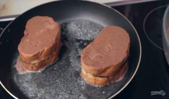 Шоколадные тосты - фото шаг 5