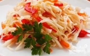 Салат из капусты с перцем - фото шаг 6