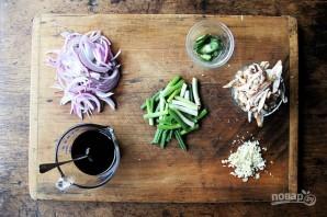 Салат с мясом и овощами - фото шаг 3