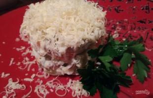 Салат из печени с сыром - фото шаг 7