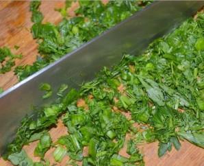 Сыр с зеленью - фото шаг 6