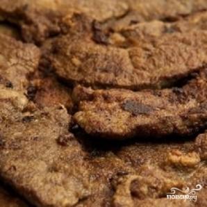 Печень с луком - фото шаг 4
