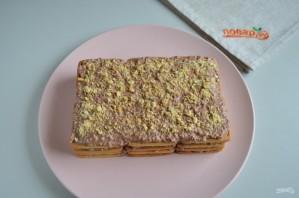 Торт без выпечки из печенья и творога - фото шаг 7