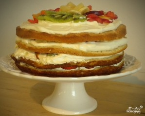 Бисквитно-фруктовый торт - фото шаг 6
