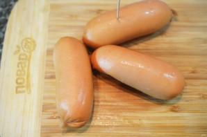 Сосиски-гриль с соусом песто из руколлы - фото шаг 5