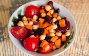 Фасолевый салат с морковкой - фото шаг 5