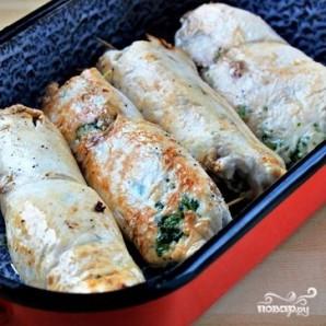 Куриные роллы, фаршированные брокколи и сыром - фото шаг 8