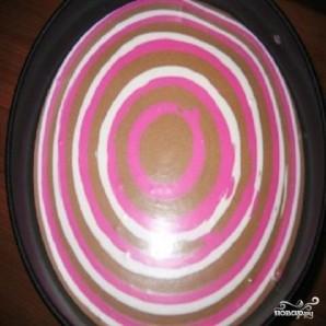 Полосатый творожный десерт - фото шаг 2