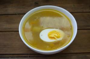 Суп с мясом и яйцом - фото шаг 8