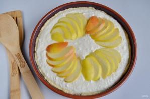 Воздушный творожный пирог с яблоками - фото шаг 10