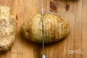 Картофельный веер с сыром - фото шаг 2