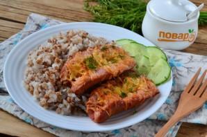 Запеченные сосиски с гречкой и рисом - фото шаг 8