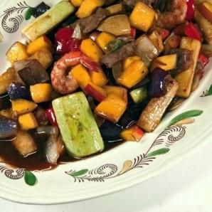 Теплый салат с манго и овощами - фото шаг 10