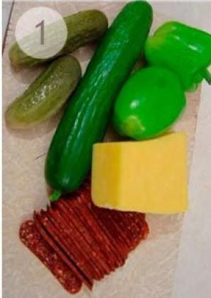 Легкая новогодняя закуска из овощей - фото шаг 1