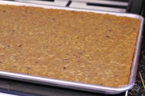 Овсяный десерт с вишней и шоколадом - фото шаг 5