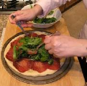 Пицца с рукколой и ветчиной - фото шаг 2