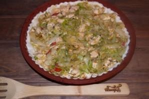 Пирог с курицей и капустой - фото шаг 5