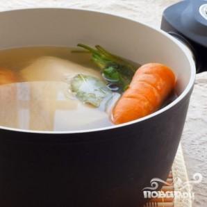 Суп с фарфель и шампиньонами - фото шаг 3