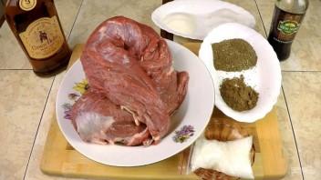Вяленый балык из говядины на коньяке - фото шаг 1