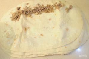Простой пирог из лаваша с мясом - фото шаг 3