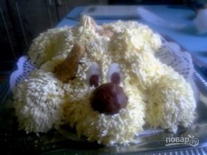 "Торт ""Собачка"" из крема - фото шаг 9"