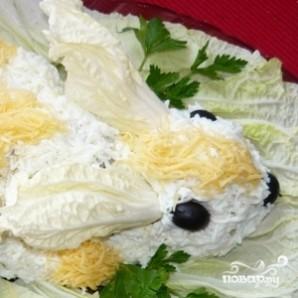 Салат Пасхальный кролик - фото шаг 10