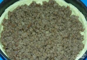 Открытый пирог с мясом и капустой - фото шаг 10