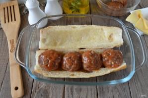 Бургер с фрикадельками - фото шаг 7
