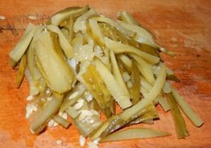 Салат с печенью и грибами - фото шаг 5