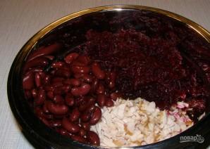 Салат с курицей и красной фасолью - фото шаг 3
