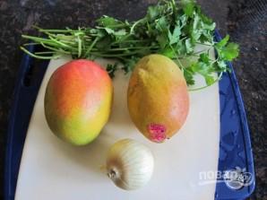 Салат с манго и зеленью - фото шаг 1